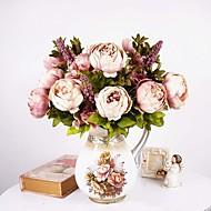 Artificial Flowers 1 Branch European Style Peonies Tabletop Flower