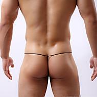 cheap -Men's G-string Underwear Color Block Low Waist Black White Yellow M L XL