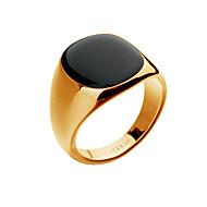 ราคาถูก -สำหรับผู้ชาย แหวน แหวนตรา แหวนชุดขอบ Onyx ตาของแมว Chrysoberyl 1pc ทอง สีเงิน ทองชุบ 18K Punk แฟชั่น ฮิปฮอป ของขวัญวันคริสต์มาส ปาร์ตี้ เครื่องประดับ