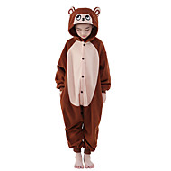 Kid's Kigurumi Pajamas Monkey Animal Onesie Pajamas Polar Fleece Brown Cosplay For Boys and Girls Animal Sleepwear Cartoon Festival / Holiday Costumes