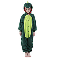 Kid's Kigurumi Pajamas Dinosaur Animal Onesie Pajamas Polar Fleece Green Cosplay For Boys and Girls Animal Sleepwear Cartoon Festival / Holiday Costumes
