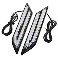 exLED 2pcs Car Light Bulbs 24 W SMD 5630 500 lm 66 LED Daytime Running Light For