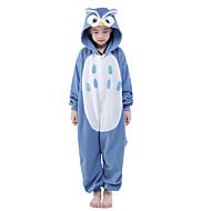 Dla dzieci Piżama Kigurumi Sowa Zwierzę Piżama Onesie Aksamitna norka Niebieski Cosplay Dla Chłopcy i dziewczęta Animal Piżamy Rysunek Festiwal/Święto Kostiumy