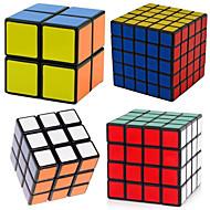 4 piezas Cubo magico Cubo IQ Shengshou 2*2*2 3*3*3 4*4*4 Cubo velocidad suave Cubos mágicos rompecabezas del cubo Nivel profesional Velocidad Clásico Niños Adulto Juguet Chico Chica Regalo