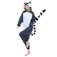 Adults' Kigurumi Pajamas Lemur Onesie Pajamas Polar Fleece Ink Blue Cosplay For Men and Women Animal Sleepwear Cartoon Festival / Holiday Costumes