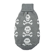 Dog Sweater Winter Dog Clothes Black Red Gray Costume Cotton Skull Keep Warm XS S M L XL