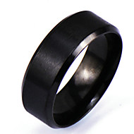 Men's Band Ring Black Alloy Circle Personalized Punk Rock Christmas Gifts Daily Jewelry
