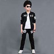 مجموعة ملابس كم طويل طباعة أحرف أسود الرياضة للصبيان أطفال / مكعبات الألوان