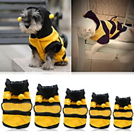 Cat Dog Costume Hoodie Dog Clothes Yellow Costume Bulldog Shiba Inu Cocker Spaniel Cotton Animal Cosplay XXS XS S M L XL