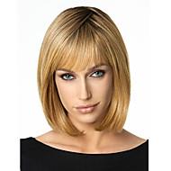 Synthetic Wig Straight Straight Bob Wig Short Medium Length Dark Blonde Synthetic Hair Women's Brown