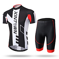XINTOWN Męskie Krótki rękaw Koszulka z szortami na rower Nowość Rower Szorty Spodnie Dżersej Oddychający Wkładka 3D Szybkie wysychanie Odporność na promieniowanie UV Odblaskowe paski Sport Spandeks