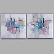 Hang-Painted öljymaalaus Maalattu - Abstrakti Klassinen Moderni Sisällytä Inner Frame / Venytetty kangas
