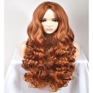 Perruque Synthétique Ondulation Naturelle Ondulation Naturelle Perruque Long Très long Marron Cheveux Synthétiques Femme Marron