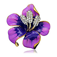 Women's Brooches Ladies Stylish Brooch Jewelry Black Purple Red For Wedding Party Dailywear Daily Casual
