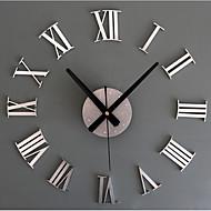 abordables -Contemporáneo moderno / Retro Acrílico / Vidrio / Metal Redondo Novedad / Vacaciones / Inspirador Interior / Exterior AA Decoración Reloj de pared Analógico Estampado en Relieve No