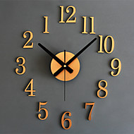 cheap -Modern Contemporary / Retro Acrylic / Glass / Metal Round Novelty / Holiday / Inspirational Indoor / Outdoor AA Decoration Wall Clock Analog Emboss No