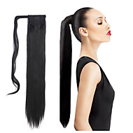 synthetic hair long ponytail wowen straight clip in ponytail ribbon ponytail hair extension hairpiece fake hair pieces