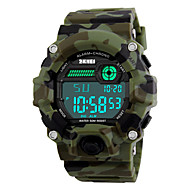SKMEI Men's Sport Watch Military Watch Wrist Watch Digital Quilted PU Leather Multi-Colored 30 m Water Resistant / Waterproof Alarm Calendar / date / day Digital Camouflage Green Two Years Battery