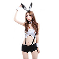 Women's Bunny Girl Career Costumes Sex Cosplay Costume Party Costume Solid Colored Top Pants Headwear