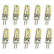preiswerte -10 Stück 1 W LED Doppel-Pin Leuchten 120 lm G4 T 24LED LED-Perlen SMD 3014 Dekorativ Warmes Weiß Kühles Weiß 12 V / RoHs