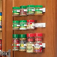 מטבח, בקבוק, תבלין, מארגן, מתלה, דלת, דלת, ספייס, קליפים, 20-clip, set