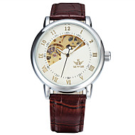 Men's Sport Watch Fashion Watch Dress Watch Automatic self-winding Genuine Leather Multi-Colored 50 m Analog Charm Classic Casual - Gold / Brown White / Silver White / Brown