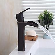 Bathtub Faucet - Waterfall Oil-rubbed Bronze Centerset Single Handle One HoleBath Taps