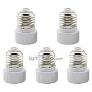 5 шт. E27 to gu10 керамический адаптер для подключения держателя для светодиодной лампы