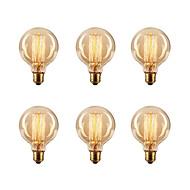 ecolight ™ 6 قطع المصابيح edsion 40w e26 / e27 g80 2300k اديسون لمبة المتوهجة خمر 220-240v