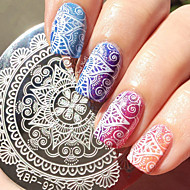 1 pcs Ștampila de ștanțare nail art pedichiura si manichiura Modă Zilnic / ștampilare Placă / Oțel