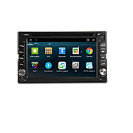 6.2 inch 2 DIN Android6.0 In-Dash Car DVD Player Built-in Bluetooth / GPS / RDS for Support / 3D Interface / Steering Wheel Control / WiFi / Subwoofer Output / Games
