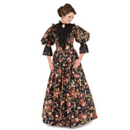 Victorian The Marvelous Mrs. Maisel Dress Cosplay Costume Party Dress Women's Floral Victorian Wasp-Waisted Christmas Halloween Carnival Festival / Holiday Lace Organza Women's Carnival Costumes