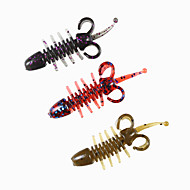 """20 pcs Soft Bait Fishing Lures Soft Bait Champagne Red Blue yellow shad purple flash g/Ounce,48 mm/2"""" inch,SiliconSea Fishing Spinning"""
