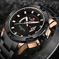 cheap -NAVIFORCE Men's Sport Watch Military Watch Wrist Watch Japanese Quartz Stainless Steel Black / Silver 30 m Water Resistant / Waterproof Calendar / date / day Creative Analog Charm Luxury Vintage
