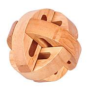 Wooden Puzzle IQ Brain Teaser Luban Lock IQ Test Wooden Unisex Boys' Girls' Toy Gift
