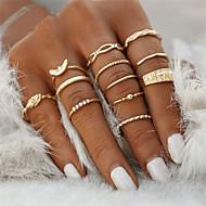 Ring Gold Rhinestone Zinc Alloy Princess Animal Bowknot Ladies Unusual Geometric 12pcs / Women's / Rings Set