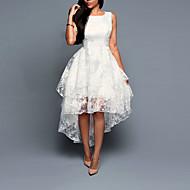 billiga -Dam A-linjeklänning Mini klänning - Ärmlös Vit Enfärgad Multi lager Blom Asymmetrisk Sommar Plusstorlekar Utekväll Asymmetrisk Vit Svart Rosa Grå S M L XL XXL 3XL 4XL 5XL