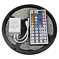 billige -zdm 5m vanntett 300 x 2835 8mm rgb ledelister lett fleksible og ir 44key fjernkontroll koblbar selvklebende fargeskiftende
