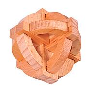 Wooden Puzzle IQ Brain Teaser Luban Lock IQ Test Wooden Unisex Toy Gift