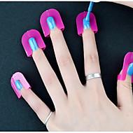 26 Pcs/lot Nail Polish Edge Anti-Flooding Plastic Template Clip Manicure Tools Set