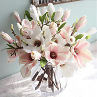 Artificial Flowers 1 Branch European Style Magnolia Tabletop Flower