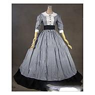 Gothic Lolita Dress Women's Girls' Japanese Cosplay Costumes Gray Vintage Cap Sleeve Half Sleeve Floor Length