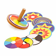 Spinning Top Stress and Anxiety Relief Office Desk Toys Wooden Vintage Kid's Boys' Girls' Toy Gift