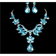 Women's Jewelry Set Pendant Flower Earrings Jewelry Purple / Blue For Wedding Party Special Occasion Anniversary Birthday
