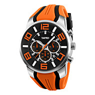 SKMEI Men's Wrist Watch Quartz Silicone Black / Blue / Red Casual Watch Analog Charm - Red Green Blue Two Years Battery Life / Maxell626+2025