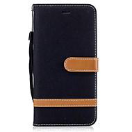 fodral Till Motorola Moto G5 Plus / Moto G5 / Moto G4 Plus Plånbok / Korthållare / med stativ Fodral Enfärgad Hårt PU läder