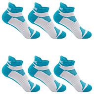 Compression Socks Athletic Sports Socks Running Socks 6 Pairs Cushion Women's Socks Ankle Socks Fitness, Running & Yoga Limits Bacteria Sports Running Sports Simple Chinlon Nano Silver Cotton Blue