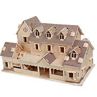 3D Puzzle Jigsaw Puzzle Model Building Kit Famous buildings House DIY Wooden Classic Kid's Adults' Unisex Boys' Girls' Toy Gift / Wooden Model