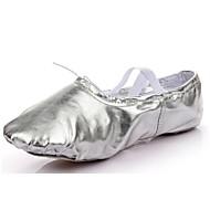 Pentru femei Pantofi de Balet Sintetic Josi Toc Drept Personalizabili Pantofi de dans Auriu / Argintiu / Interior