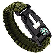 Overlevelsesarmbånd Survival Bracelet Whistle Taktisk Justerbar Nødsituation Nylon Campering & Vandring Jagt Fiskeri Udendørs Rejse Grøn+Lime